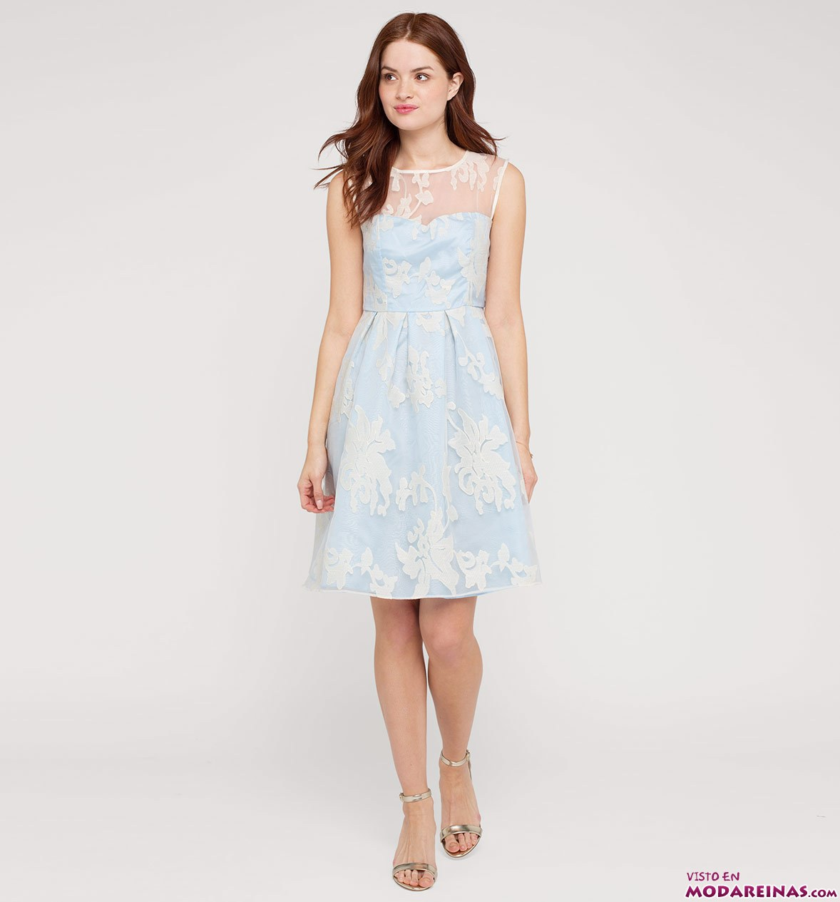 vestido corto juvenil en color