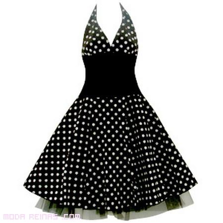vestido de lunares retro