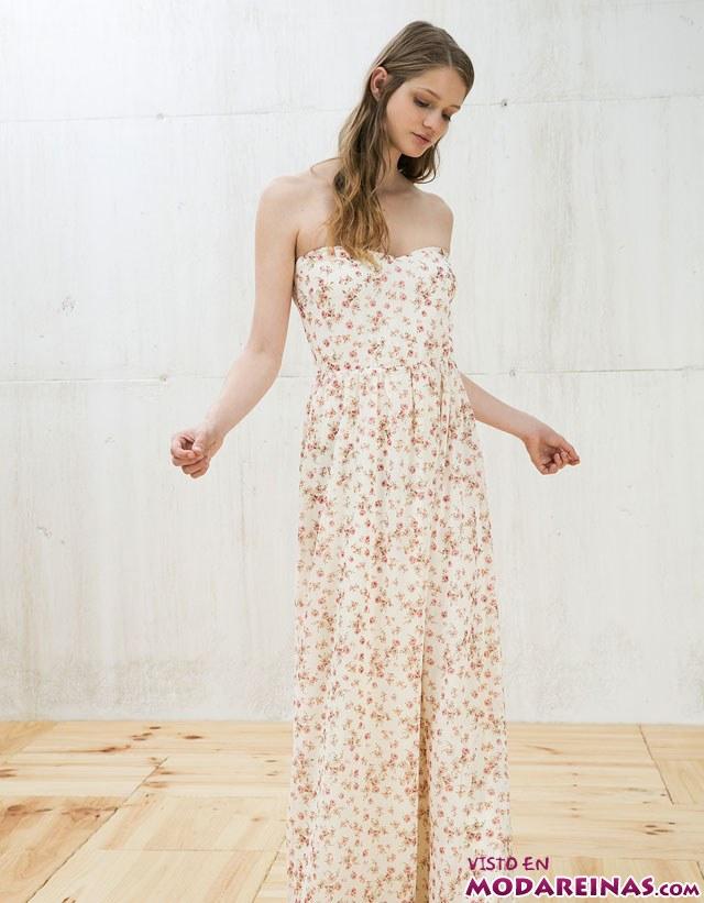 vestido estampado con aberturas