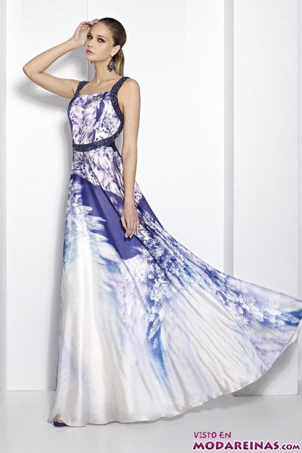 vestido fiesta cabotine estampado