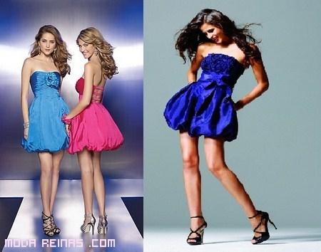 vestidos cortos estilo globo