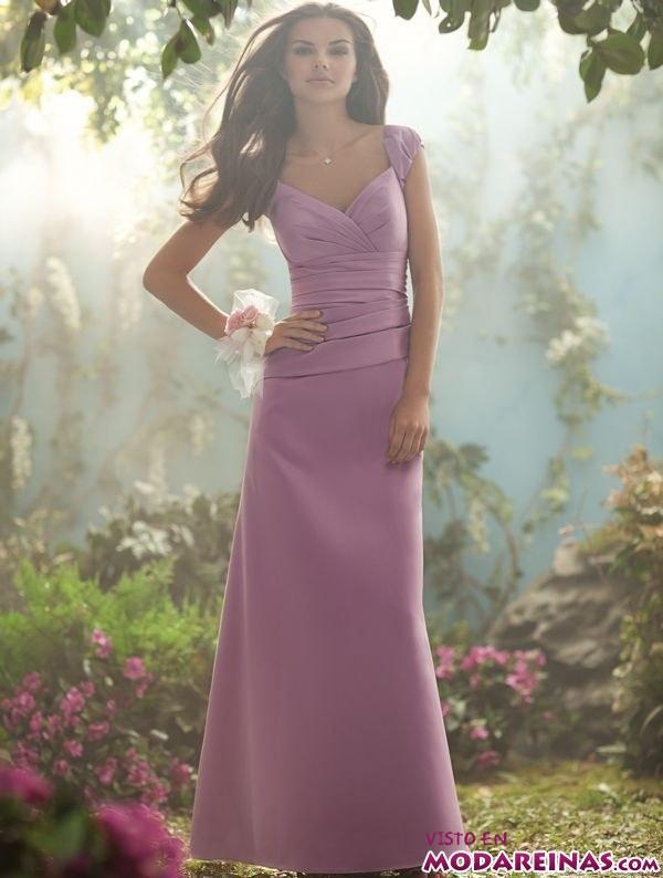 vestido largo de fiesta en morado