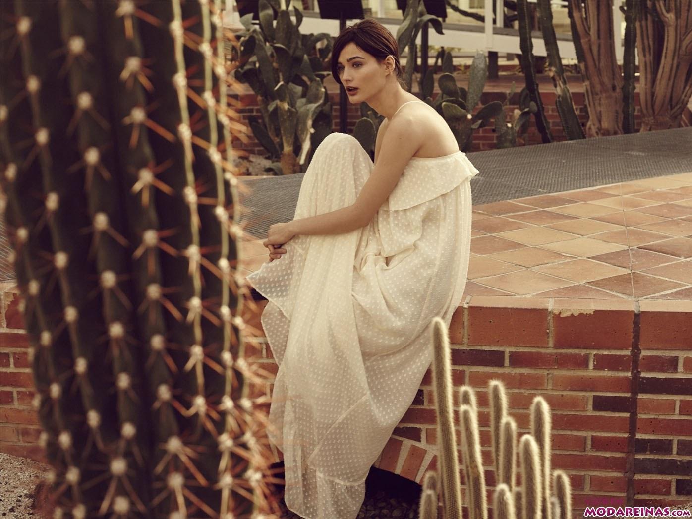 Vestido blanco largo sfera