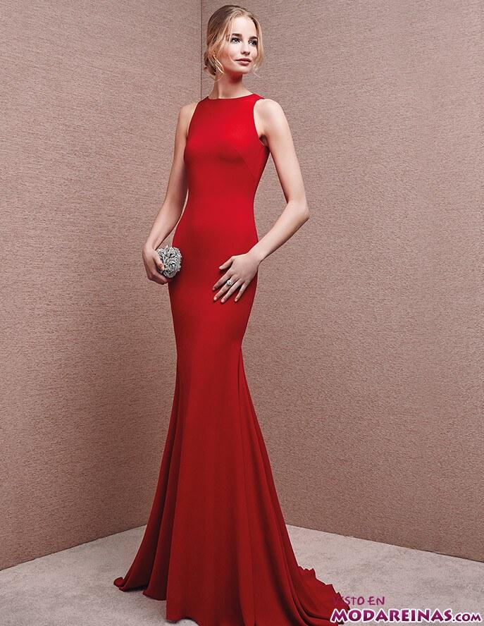 vestido recto rojo y de corte sirena