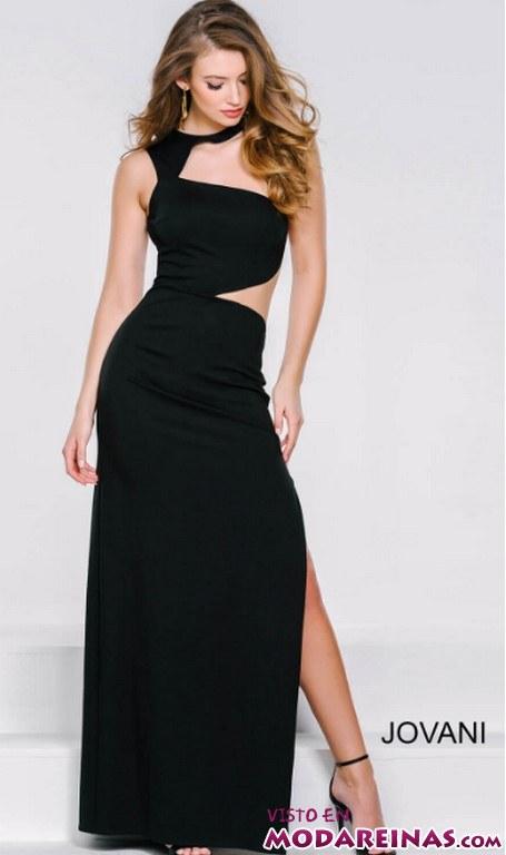 vestido recto sensual color negro