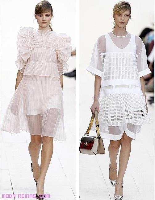 vestidos de moda en color pastel