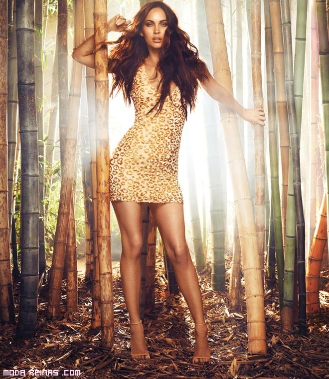 vestidos cortos print leopardo