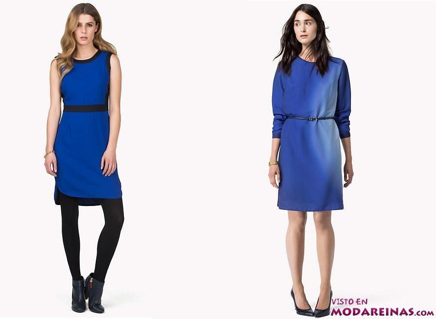vestidos azules tommy hilfiger