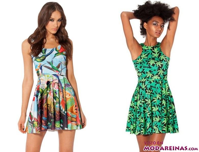 vestidos cortos con estampados