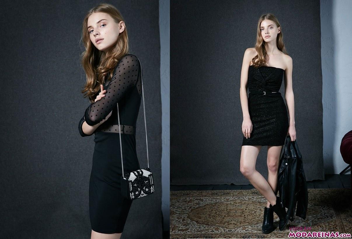 vestidos cortos de fiesta en color negro