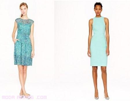 vestidos cortos en azul