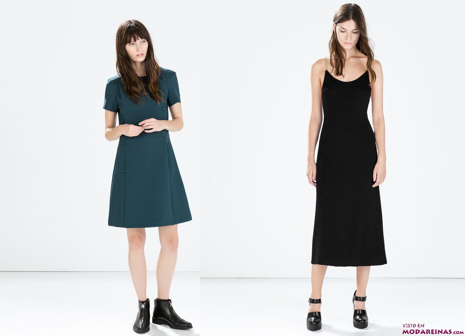 vestidos cortos modernos de zara