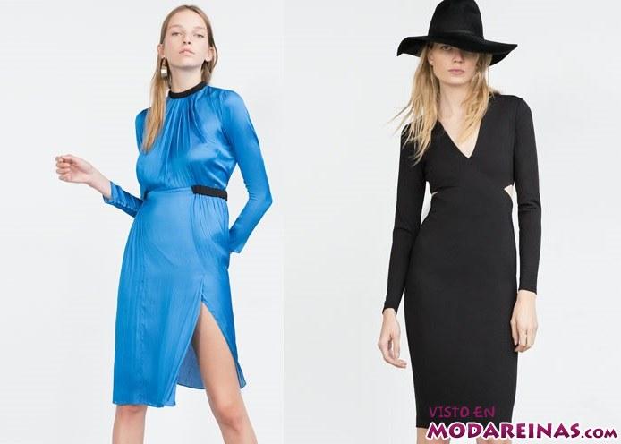 vestidos cortos  rectos de Zara