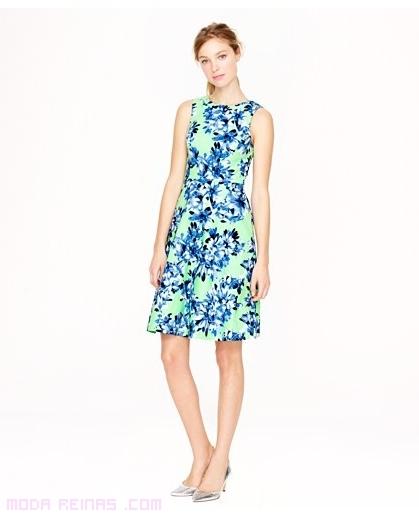 vestidos florales con tirantes anchos