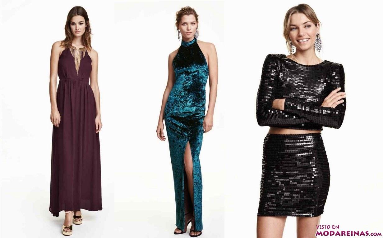 vestidos de moda para navidad en H&M