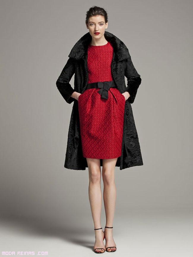 vestidos rojos con cinturón negro
