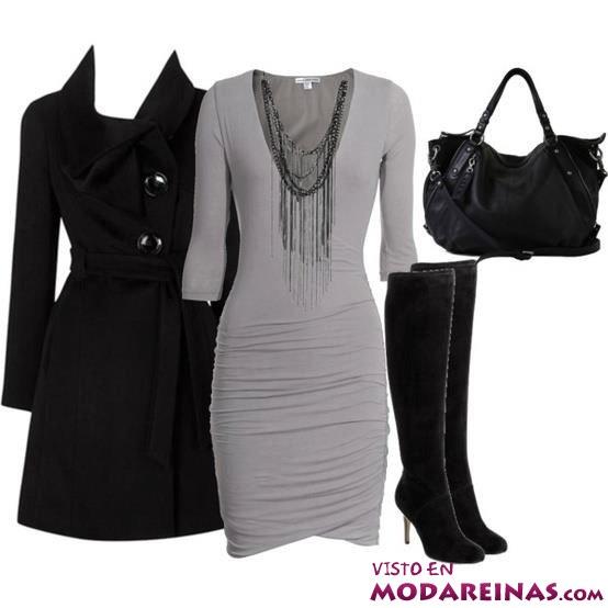 vestidos en gris