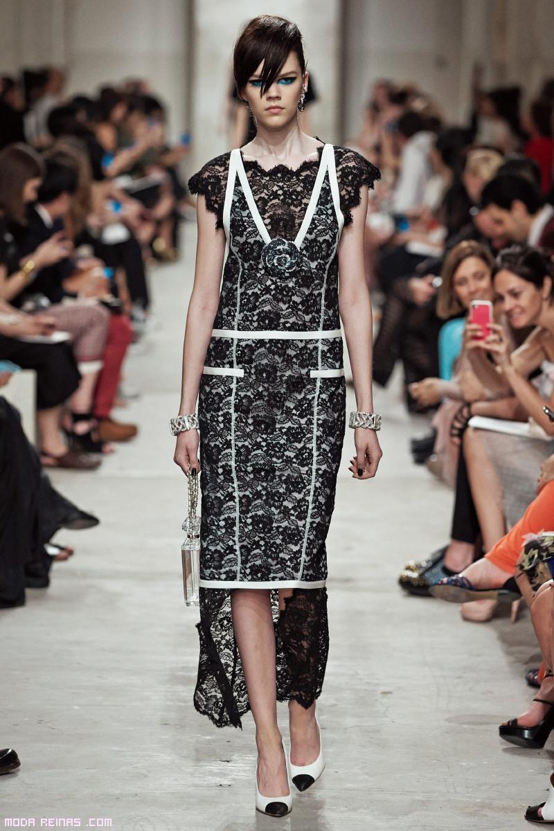 vestidos asimétricos con encaje