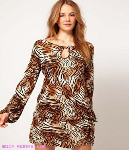 vestidos con print de animal