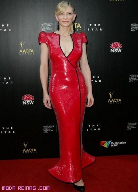 Vestido Rojo De Cate Blanchett Moda Reinas