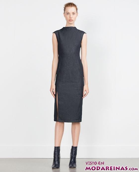vestidos rectos para otoño 2015