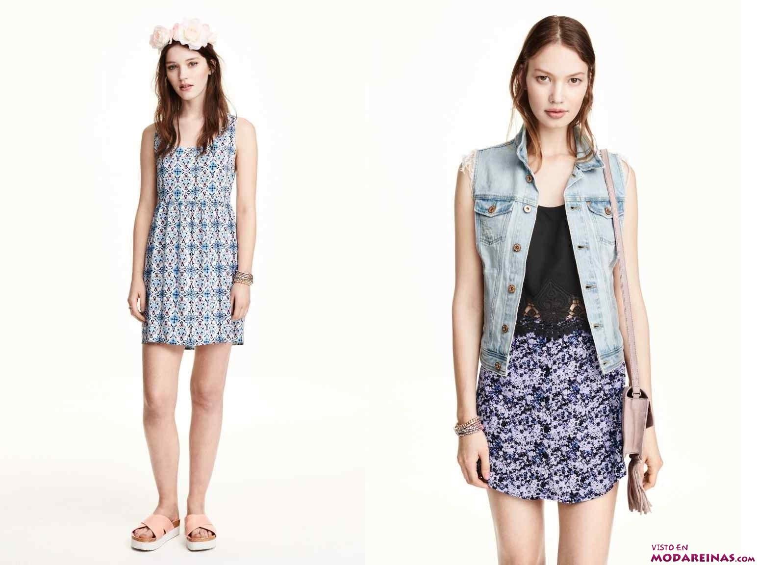 vestidos y faldas estampadas de H&M