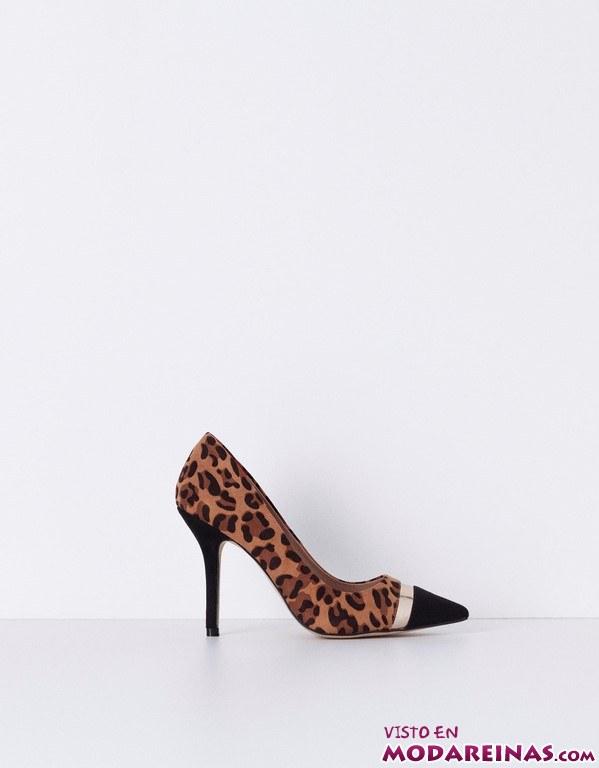 zapatos de tacón con estampado leopardo de Blanco