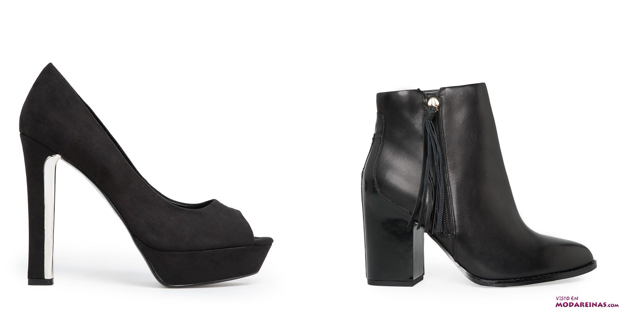 zapatos de tacón y botines mango