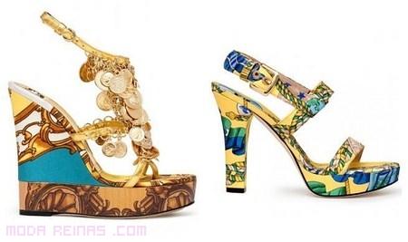zapatos estampados a la moda