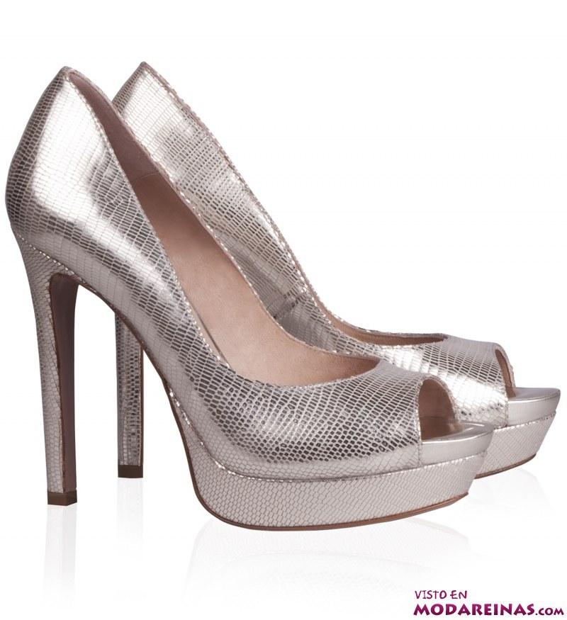 zapatos metalizados plata