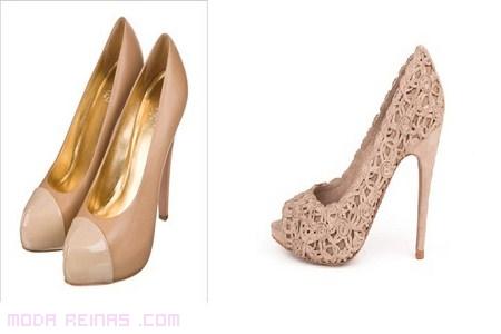 zapatos con estilo en color nude