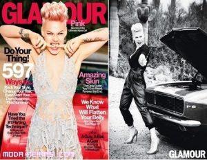 Pink portada de la revista Glamour