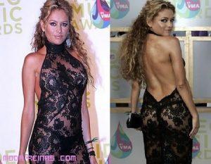 Los vestidos más atrevidos de las famosas