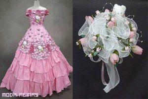 Vestido de novia de Hello Kitty